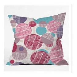 """DENY Designs - Rachael Taylor Textured Geo Throw Pillow - Wanna transform a serious room into a fun, inviting space? Looking to complete a room full of solids with a unique print? Need to add a pop of color to your dull, lackluster space? Accomplish all of the above with one simple, yet powerful home accessory we like to call the DENY Throw Pillow! Features: -Rachael Taylor collection. -Material: Woven polyester. -Sealed closure. -Top and back color: Print. -Spot treatment with mild detergent. -Made in the USA. -Closure: Concealed zipper with bun insert. -Small dimensions: 16"""" H x 16"""" W x 4"""" D, 3 lbs. -Medium dimensions: 18"""" H x 18"""" W x 5"""" D, 3 lbs. -Large dimensions: 20"""" H x 20"""" W x 6"""" D, 3 lbs."""
