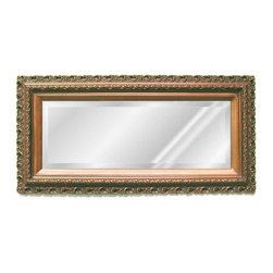 Hickory Manor House - Rectangular Serpentine Mirror in Bronze Finis - Vintage original. Custom made by artisans unfortunately no returns allowed. Enhance your decor with this graceful mirror. Made in the USA. Made of pecan shell resin. 37 in. W x 19 in. H (7 lbs.)