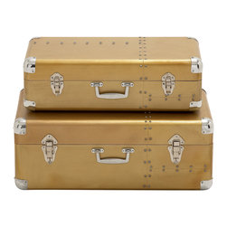 Strong and Sturdy Wood Aluminum Case, Set of 2 - Description: