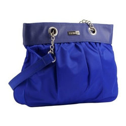 Hadaki Nylon Brick A Brack Tote Bag - Cobalt with Aqua