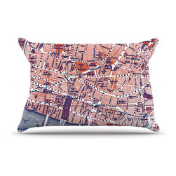 "Kess InHouse - Alison Coxon ""City Of London"" Map Pillow Case, Standard (30"" x 20"") - This pillowcase, is just as bunny soft as the Kess InHouse duvet. It's made of microfiber velvety fleece. This machine washable fleece pillow case is the perfect accent to any duvet. Be your Bed's Curator."