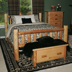 "Moon Valley Rustic - 212 -Moon Valley Slat Bed - Features: -Made in the USA.-Sturdy doweled construction.-Constructed of white cedar.-Gloss Finish (Finish: Unfinished): No.-Gloss Finish (Finish: Amber Varnish): Yes.-Finish (Finish: Unfinished): Unfinished.-Finish (Finish: Amber Varnish): Amber Varnish.-Hardware Finish: Weather Resistant Finish.-Frame Material: White Cedar.-Solid Wood Construction: Yes.-Upholstered: No.-Number of Items Included: 1.-Hardware Material: Stainless Steel.-Non Toxic: No.-Scratch Resistant: No.-Joinery Type: Tight Dowel Construction.-Mattress Included: No.-Box Spring Required: No.-Headboard Storage: No.-Footboard Storage: No.-Underbed Storage: No.-Slats Required: No.-Center Support Legs: No.-Adjustable Headboard Height: No.-Adjustable Footboard Height: No.-Wingback: No.-Trundle Bed Included: No.-Attached Nightstand: No.-Cable Management: No.-Built in Outlets: No.-Lighted Headboard: No.-Finished Back (Finish: Unfinished): No.-Finished Back (Finish: Amber Varnish): Yes.-Reclaimed Wood: No.-Distressed: No.-Bed Rails Included: Yes.-Collection: Bedroom Furniture.-Country of Manufacture: United States.-Eco-Friendly: Yes.-Recycled Content: No.-Wood Moldings: No.-Canopy Frame: No.-Hidden Storage: No.-Jewelry Compartment: No.-Weight Capacity: 1600 lbs.-Swatch Available: Yes.-Commercial Use: Yes.Specifications: -FSC Certified: No.-EPP Compliant: Yes.-CPSIA or CPSC Compliant: Yes.-CARB Compliant: Yes.-JPMA Certified: No.-ASTM Certified: No.-ISTA 3A Certified: No.-PEFC Certified: No.-General Conformity Certificate: No.-Green Guard Certified: No.Dimensions: -Overall Height - Top to Bottom (Size: Queen): 48"".-Overall Height - Top to Bottom (Size: King): 48"".-Overall Width - Side to Side (Size: Queen): 68"".-Overall Width - Side to Side (Size: King): 84"".-Overall Depth - Front to Back (Size: Queen): 90"".-Overall Depth - Front to Back (Size: King): 90"".-Overall Product Weight (Size: Queen): 212 lbs.-Overall Product Weight (Size: King): 233 lbs.-Headboard Dimensions Height (Size: Queen): 48"".-Headboard Dimensions Height (Size: King): 48"".-Headboard Width Side to Side (Size: Queen): 68"".-Headboard Width Side to Side (Size: King): 84"".-Headboard Depth Front to Back (Size: Queen): 5"".-Headboard Depth Front to Back (Size: King): 5"".-Footboard Height (Size: Queen): 44"".-Footboard Height (Size: King): 44"".-Footboard Width - Side to Side (Size: Queen): 68"".-Footboard Width - Side to Side (Size: King): 84"""".-Footboard Depth - Front to Back (Size: Queen): 5"".-Footboard Depth - Front to Back (Size: King): 5"".-Top of Headboard to Bedframe: 34"".-Bottom of Side Rail to Floor: 14"".-Side Rail Length: 86"".-Base of Headboard to Floor: 28"".Assembly: -Assembly Required: Yes.-Tools Needed: Rubber Mallet or Hammer, Screwdriver or Drill, Sandpaper.-Additional Parts Required: No.Warranty: -Product Warranty: 1 Year."
