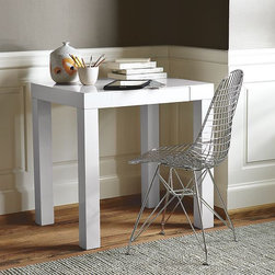 Parsons Mini Desk - A contemporary, versatile silhouette, scaled down for smaller spaces and crafted with clean lines and a single supply drawer.
