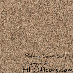 Mohawk Sierra Shadows - Mohawk Sierra Shadows, Ashwood 12' polyester carpet. Available at HFOfloors.com.
