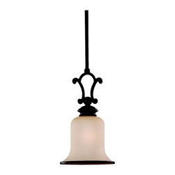 Seagull - Seagull Acadia Mini Pendant Light Fixture in Misted Bronze - Shown in picture: 61145BLE-814 ENERGY STAR Acadia Mini-Pendant in Misted Bronze finish with Champagne Seeded Glass; Energystar Compliant; Energystar Compliant
