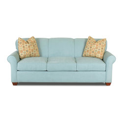 Savvy - Calgary Queen Sleeper Sofa in Microsuede Sky - Calgary Queen Sleeper Sofa in Microsuede Sky