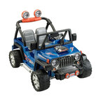 Fisher-Price - Fisher-Price Power Wheels Hot Wheels Jeep Battery Powered Riding Toy - CBG61 - Shop for Tricycles and Riding Toys from Hayneedle.com! Off-roading is really a term for people who actually believe in roads and when your little one is riding in the Fisher-Price Power Wheels Hot Wheels Jeep Battery Powered Riding Toy they may just start to believe that roads are only suggestions. This tough riding toy moves on a 12-volt rechargeable battery that provides a max speed of 5-mph going forward and 2.5-mph in reverse but there's a safety speed lock-out to limit the speed for novice drivers. Realistic Jeep touches like the grill frame and roll-bars give it an authentic look while a pair of AA batteries give them real tunes and realistic engine noises. The wide wheel-base offers stability and a roomy storage area lets them take along a snack or other must-have items while they're out on the trail.About Fisher-PriceAs the most trusted name in quality toys Fisher-Price has been helping to make childhood special for generations of kids. While they're still loved for their classics their employees' talent energy and ideas have helped them keep pace with the interests and needs of today's families. Now they add innovative learning toys toys based on popular preschool characters award-winning baby gear and numerous licensed children's products to the list of Fisher-Price favorites.