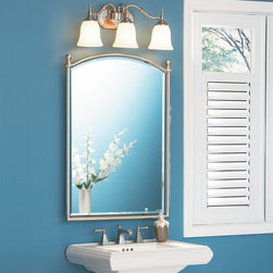 Quoizel - Quoizel TT8743BN Tritan Transitional Bathroom / Vanity Light - This timeless fixture features lovely bellshaped shades that provide a bright, yet soft light, and the classic finish coordinates with many faucets styles.
