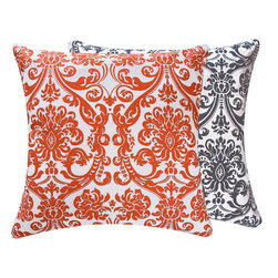 Orange You Gray8 Collection Decorative Throw Pillow l Chloe and Olive - Chloe & Olive