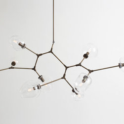 Branching Bubble 9-bulb Chandelier | Lindsey Adelman - Lindsey Adelman and her team design and build each fixture to order in their Manhattan studio.