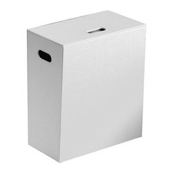 Gedy - White Faux Leather Laundry Basket - A floor standing contemporary laundry basket that is made in faux leather and mdf and finished in white.