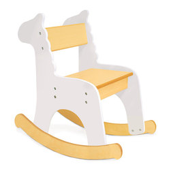 P'Kolino - P'kolino - Zebra Rocking Chair - The Pkolino - Zebra Rocking Chair uses colorful animal silhouettes to create a playful yet sophisticated design. Suitable for playrooms and bedrooms. Materials Fiber Board with Wood Veneer Weight 10 lbs 4.53 kg.
