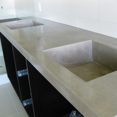 eclectic bathroom countertops by Artisan Design & Finishing