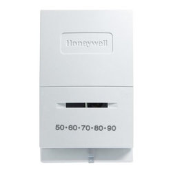 Honeywell Heat Only Thermostat - A Honeywell Heat Only Thermostat is easy to install and operate, with only 2 wires. Use it for precise temperature control of central gas or oil heating systems.About HoneywellWhen it comes to applying leading-edge technology to solve the world's problems, few companies can rival Honeywell's long record of achievement. It began in the 1880s. Honeywell pioneered a combination of products that gave birth to a new field of technology - automation and control. Honeywell has never looked back. Across twelve decades, Honeywell has been building a better world and remains the world's leader in automation and control solutions.More than 100 million homes and well over 5 million commercial, industrial and institutional buildings around the world depend on Honeywell products, components and systems deliver control, comfort, safety and security.