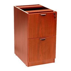 Boss Chairs - Boss Chairs Boss Full Pedestal File/File in Cherry - This deluxe locking pedestal has two file drawers. finished in Cherry laminate that is durable yet attractive.