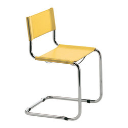 Eurostyle - Ital Modern Sabrina Side Chair in Yellow [Set of 2] - Side Chair in Yellow belongs to Sabrina Collection by Eurostyle From the little rubber feet to the tailored fit of the seat and back, the Sabrina Side Chair is a symbol of craftsmanship and style. If you��_�re looking for a chair that is always just right, why not purchase an icon. In black or white leather and chrome. Side Chair (2)