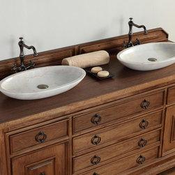"""72"""" Mykonos Double Sink Vanity -"""