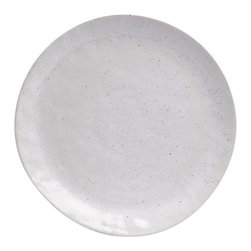 Casafina - Dinner Plate, Solid Speckled White - Organic shaped handmade Portuguese stoneware. Durable enough to be used everyday and beautiful enough to be used on special occasions.