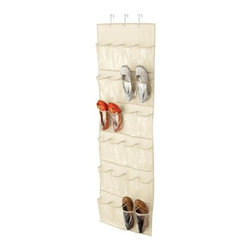 Honey-Can-Do Over-the-Door Clear Shoe Organizer/Storage Rack, Natural - An over-the-door shoe organizer makes it so easy to clean up your closet and clear up space on the floor. We need a couple of these for our shoe collections.