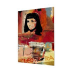 "READY2HANGART.COM - Ready2hangart Alexis Bueno Iconic 'Cleopatra' Acrylic Wall Art - Artist Alexis Bueno, takes you on a journey with this unique retrospective of the stars that affected Pop Culture through the past centuries with his series Iconic Art . This abstract rendition in acrylic art is offered as part of a limited ""Home Decor"" line, being the perfect addition to any contemporary space."