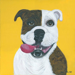 """Happy Go Lucky"" (Original) By Ania  Milo - I Love To Paint Dogs (Cats Too). They Are So Expressing And Full Of Emotions!"