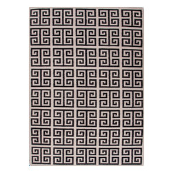 Jaipur Rugs - Flat Weave Geometric Pattern Gray /Black Wool Handmade Rug - UB05, 8x10 - A range of beautifully designed flat weaves in a stunning color palette. Hand woven from 100% wool, each rug has its own personality and is versatile and easy to use.