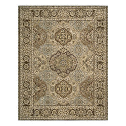 """Nourison - Traditional Nourison 2000 7'9""""x9'9"""" Rectangle Multi Color Area Rug - The Nourison 2000 area rug Collection offers an affordable assortment of Traditional stylings. Nourison 2000 features a blend of natural Multi Color color. Hand Knotted of 100% Wool-Silk the Nourison 2000 Collection is an intriguing compliment to any decor."""