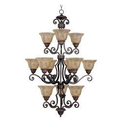 Maxim Lighting - Maxim Lighting 11238SAOI Symphony Traditional Chandelier in Oil Rubbed Bronze - Maxim Lighting 11238SAOI Symphony Traditional Chandelier In Oil Rubbed Bronze