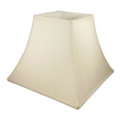 American Heritage Shades - Square Bell Lampshade in Eggshell (20 in. Diam x 15 in. H) - Choose Size: 20 in. Diam x 15 in. HLampshade Types. Shantung faux silk with off-white fabric liner. Hand made. Matching top, bottom and vertical trim. Enhances lamp and room decor. Made from polyester and fabric. Fitter in brass color. Made in USA. No assembly required