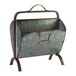 Ferguson Iron Magazine Holder - For a really rustic feel, this aged iron holder is a must.