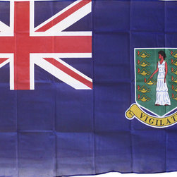 Flagline - British Virgin Islands - 3'X5' Polyester Flag (Blue) - Our 3' x 5' British Virgin Islands flag includes vivid colors and an accurate design screen-printed on a durable 100% polyester material. The flag features a white fabric header with two brass grommets on the 3' side for easy display. The flag is best used indoors but can withstand occasional outdoor use. The authentic design is based on information from official sources. The British Virgin Islands are an overseas territory of the United Kingdom.