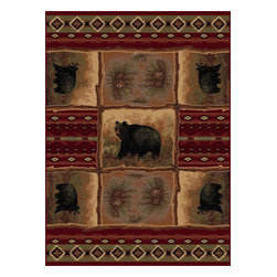 """Tayse - Southwestern/Lodge Nature 7'10""""x10'3"""" Rectangle Red Area Rug - The Nature area rug Collection offers an affordable assortment of Southwestern/Lodge stylings. Nature features a blend of natural Red color. Machine Made of Polypropylene the Nature Collection is an intriguing compliment to any decor."""
