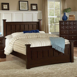 Coaster - Harbor Eastern King Size Bed - The transitional Harbor Bedroom collection is crafted from selected hardwoods and veneers. The collection features a rich cappuccino finish and brushed chrome accents.