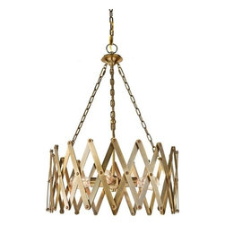 Murray Feiss - 4 Bulb Bali Brass Chandelier - - UL Dry Approved.