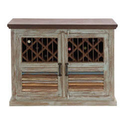"Benzara - The Stylish Wood Wine Cabinet - Is your home themed traditional? And do you love wines? Well, weather you are a pro or an amateur in the wine field, you will agree that a wine cabinet is a must for someone who loves wine. Well, this wood wine cabinet helps you do just that in a traditional, aged and rustic way. In a brown color with white and other color washes, this wine cabinet has doors that open up to the storage space. But don't go by is rustic looks; this cabinet is brand new and has been made using quality materials. This ensures that it will last for years to come. All you guests will appreciate your choice, and it will fit like a glove in your older themed decor. So don't wait any longer; if you love wine, you need this wood wine cabinet. Wood wine cabinet dimensions: 40 inches (W) x 14 inches (D) x 32 inches (H); Wine cabinet color: Brown with various washes; Made from: Wood; Dimensions: 40""L x 17""W x 31""H"