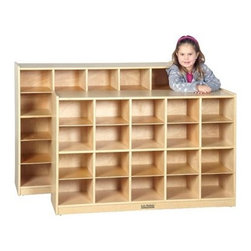 Ecr4kids - Ecr4Kids Preschool Classroom Toy Storage Cabinet With 25 Tray Cubbies - 25-Cubbie Mobile Classroom Storage Cabinet