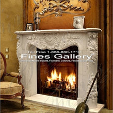 Traditional Indoor Fireplaces by Italian Marble, LLC