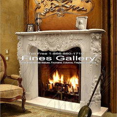 traditional fireplaces by Italian Marble, LLC