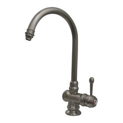 Whitehaus - Whitehaus Wh17606-Wb Evolution Style Mixer - Evolution colonial style single hole/single lever mixer with a gooseneck swivel spout