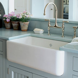 Rohl Shaws Sinks Original Fireclay Apron Sink 18'' L x 30'' W x 10'' D - RC3018 - Original Fireclay Apron Sink