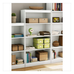 South Shore - South Shore 4 Shelf Bookcase in Pure White - South Shore - Bookcases - 7250767C -Ideal for your binders, books or decorative items, this versatile 4-shelf bookcase can meet your every need. Its Pure White finish and refined lines harmonize seamlessly with virtually any decor. Both functional and attractive with its sleek contemporary styling, this bookcase is sure to enhance the look of any room in your home.