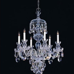 Crystorama Lighting Group - Traditional Crystal Swarovski Strass Crystal Polished Chrome Six-Light Chandelie - Traditional crystal chandeliers are classic timeless and elegant. Crystorama's opulent glass arm chandeliers are nothing short of spectacular. This collection is offered in a variety of crystal grades to fit any budget. For a touch of class order this collection in Gold for traditionalists or in Chrome to match your contemporary or transitional decor.  -Primary Material: Steel  -Crystal: Swarovski Strass  -Chain or Rod Length: 36inches  -Wire Length: 72inches Crystorama Lighting Group - 1146-CH-CL-S
