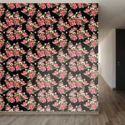 WallsNeedLove Roses on Black Self-Adhesive Wallpaper - Like you the WallsNeedLove Roses on Black Self-Adhesive Wallpaper is inspired by vintage wallpaper designs. You'll fall for the springy turquoise, lavender, marigold, and white flowers on this removable, self-adhesive wallpaper. To use, simply peel and stick, then remove or reposition at will.About Walls Need LovePeel. Stick. Repeat. Walls Need Love started in 2009. They are a small company filled with people-loving sticker fiends. Walls Need Love wants to make your house the stylish dream home you've always wanted and do it with easy-to-use vinyl wall decals. Walls Need Love has been featured in Better Homes and Gardens, Good Housekeeping, USA Today, Fab, and Apartment Therapy.