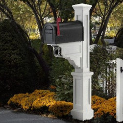 Mayne Dover Mailbox Package - Mayne Dover mailbox package which includes the post, easy to install, instantly adds curb appeal