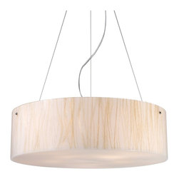 Elk Lighting - Elk Lighting Modern Organic Transitional Pendant Light X-5/33091 - The Modern Organics Collection blends the beauty of nature with luxurious design. Displayed within each fixture, sustainable natural materials are embedded within clear panels for unparalled quality and style. Offered in a wide range of organic materials complimented by uncluttered lines of polished chrome hardware.