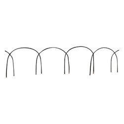 "Master Garden Products - Set of 10 Pcs, Arch Top Willow Border, 12""H X 10""L - This elegant arch top willow border fence will add beauty to the pathways in your garden. They also make delightful borders for a flower bed or any area you may want to divide or section off in your garden. The borders can be installed easily by staking it into the ground."