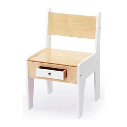 Offi - Offi Mini Kids Chair w Drawer in White (Set of 4) - Not too big, not too small, but just the right size for your little one, the Offi Mini chair will have your child sitting pretty.  Finely constructed from birch wood and MDF board, it features a non-toxic white painted combination finish and handy storage drawer. Designed by Roberto Gil from Casa Kids Collection Design Inc. - Brooklyn, NY. Made from white non-toxic-painted mdf and baltic birch plywood. 13 in. L x 12 in. W x 20 in. H. Seat Height: 12 in.. Assembly InstructionPerfectly sized for use with the Play-a-Round activity table, the Mini-drawer chair combines the clean and simple structure of other Offi Kids furniture pieces, but adds the special storage drawer for the child to keep crayons and pencils.