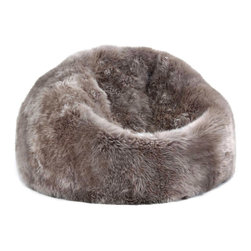 Sheepskin Bean Bag Chairs in Taupe - Soft and luxurious sheepskin bean bags designed and carefully crafted to add an element of eye-catching natural texture to your home.