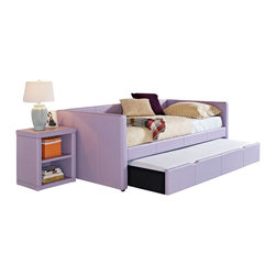 Standard Furniture - Standard Furniture Lindsey 2 Piece Twin Daybed Bedroom Set in Lavender - For a splash of color or an extra bit of function in a youth bedroom, add in our Lindsey Daybeds and Storage Cubes with their smart and versatile design lines.