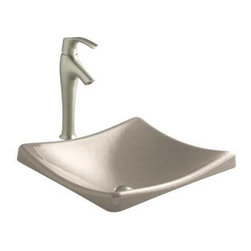 KOHLER - KOHLER K-2833-FD DemiLav Wading Pool Lavatory in Cane Sugar - KOHLER K-2833-FD DemiLav Wading Pool Lavatory in Cane SugarThe DemiLav features an above-counter installation with subtly sloping basin walls that lend a tranquil aesthetic to your bath or powder room decor. Pair this lavatory with a wall- or counter-mount faucet to complete the look.KOHLER K-2833-FD DemiLav Wading Pool Lavatory in Cane Sugar, Features:• The DemiLav features an above-counter installation with subtly sloping walls